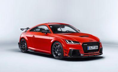 Audi TT, red luxury car, side view