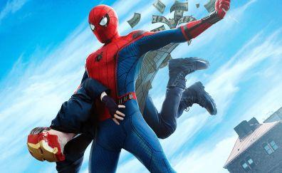 Spider-Man: homecoming, movie, spider man & robber