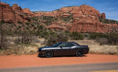 Dodge challenger, side view