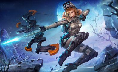 Kestrel, Archer, girl warrior, vainglory, 4k