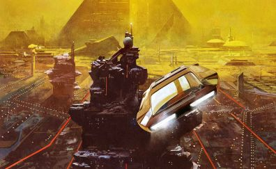 Blade runner 2049, movie, futuristic city, artwork, 4k