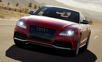 Audi RS5, red, sports car, Forza Horizon 3, video game