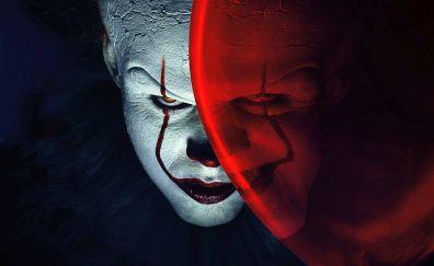 Joker, clowns, it, balloon, movie, 4k