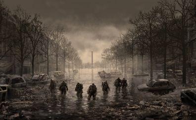 Edge of tomorrow, paris, city, soldiers, art