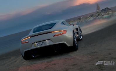 Aston Martin, white, sports car, Forza Horizon 3