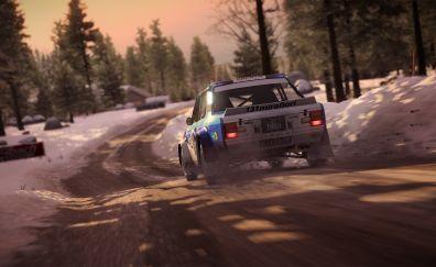 Dirt 4, game, car, rear view