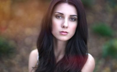 Seline Bulczynska, girl, brunette, model