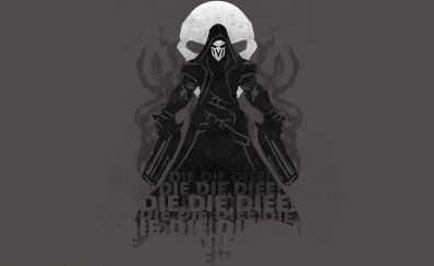 Reaper, digital art, overwatch, online game