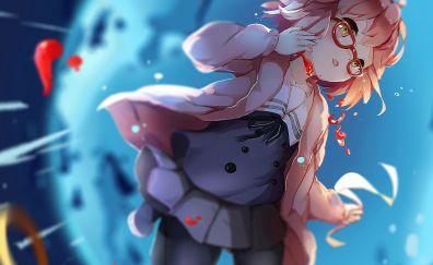 Cute, anime girl, blonde, Mirai Kuriyama