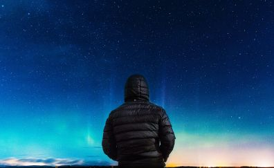 Stars, night.,. sky, alone, hoodies