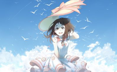 Ochako Uraraka, happiness, summer, outdoor