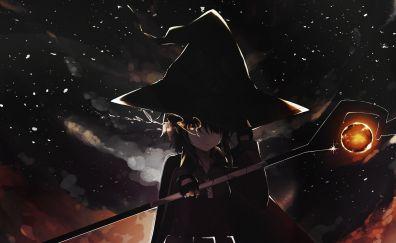 Magic wand, witch, Megumin, Kono Subarashii Sekai ni Shukufuku wo!, anime girl