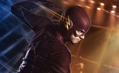 Actor Grant Gustin as the flash