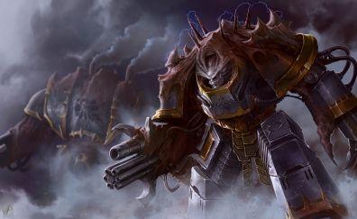 Warhammer 40k, video game, warrior, art
