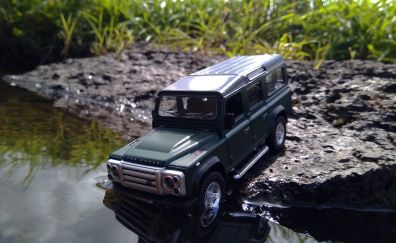 Land rover, toy, model, 4k