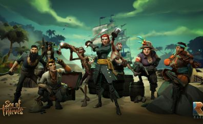 Pirates, Gang, Sea of thieves, 2018 game