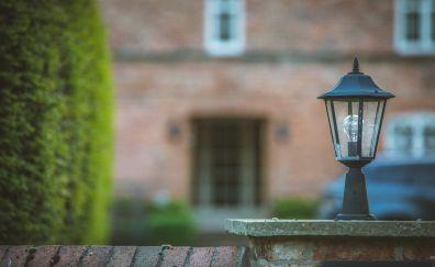 Lamp, house, blur
