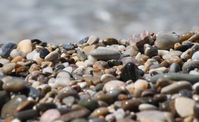 Shining pebbles, rocks