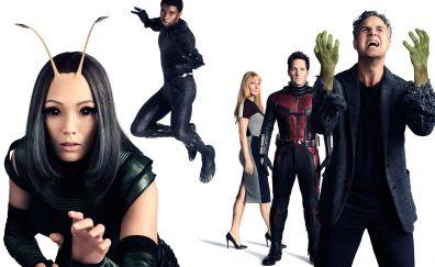 Avengers: infinity war, ant man, hulk, mantis, pepper potts, black panther, superhero, movie