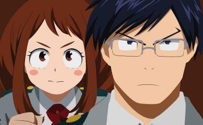 Angry, face, Ochako uraraka, Tenya Iida, My Hero Academia