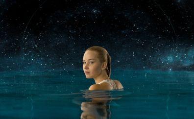 Jennifer Lawrence, swiming, Passengers, 2016 movie