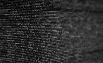 Code, monochrome