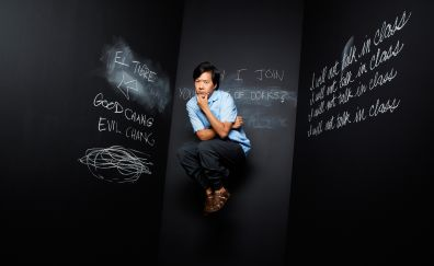 Tv series community, Ken Jeong, black board