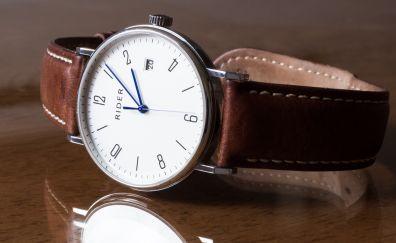 Rider wristwatch strap reflection