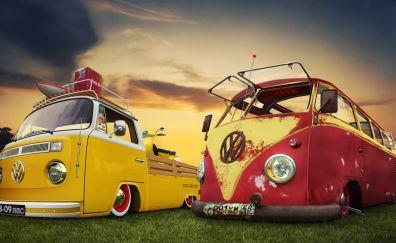 Retro Volkswagen cars
