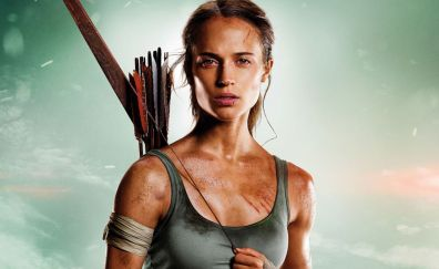 Tomb raider, 2018 movie, alicia vikander, lara croft, archer