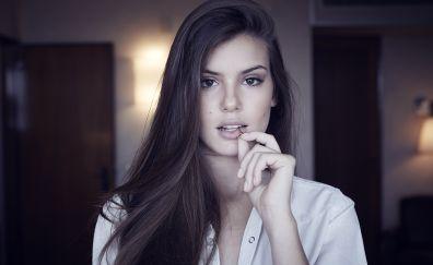 Beautiful, Brunette, celebrity, Camila Queiroz, Brazilian actress