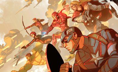 The avengers, superhero, art fan