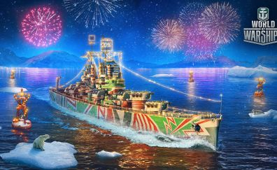World of warships, video game, ship, celebrations