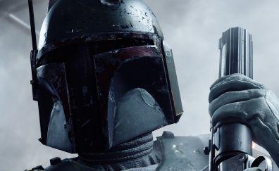 Boba fett, star wars battlefront 2, video game, 4k