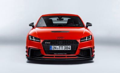 Audi TT, front view, red luxury car