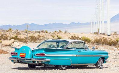 Chevrolet Impala blue car, classic car