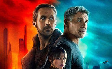Blade runner 2049, movie, Harrison Ford, Ryan Gosling, 2017 movie