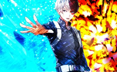 Cool, Confident, Shouto Todoroki, water and fire