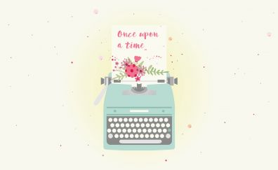 Once upon a time, typography, typewriter