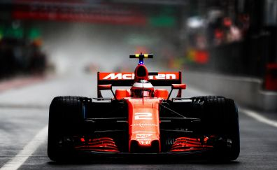 Mclaren, formula one, car, front, 4k