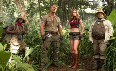 Jumanji: Welcome to the Jungle, movie, all cast, 4k