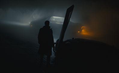 Blade runner 2049, ryan gosling, night, dark