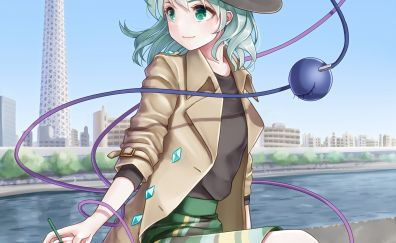 Cute anime girl, Koishi Komeiji, Touhou
