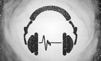 Head phone, abstract, music