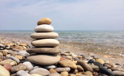 Rocks, balance, pebbles, beach, stones