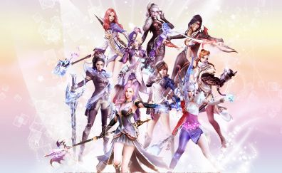 Aion: The Tower of Eternity video game, girl warriors