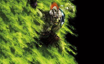 Hulk, Thor: Ragnarok, movie, 5k