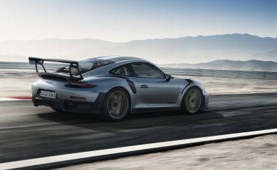 Porsche 911 GT2, road, sports car, blur motion