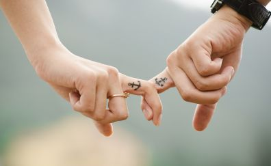 Love, hands, romance, tattoo, couple