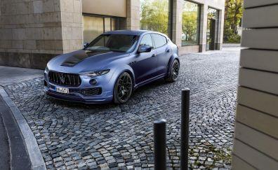 2017 Novitec's Maserati Levante Esteso, blue cars, front view, 4k